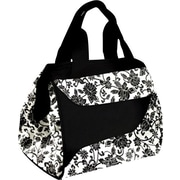 Fit & Fresh Downtown Insulated Designer Lunch Bag with Ice Pack - Ebony