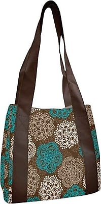 Fit & Fresh Venice Insulated Designer Lunch Bag with Ice Pack, Teal Floral