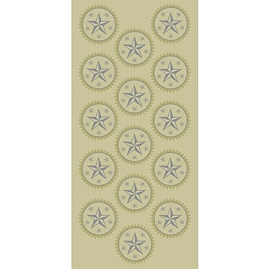 Geographics Silver and Gold Star Foil Seals, 45/Pack