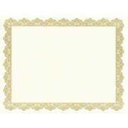 """Geographics Optima Printable Certificate With Seals; 8 1/2""""x11"""", 25/Pack, Gold"""
