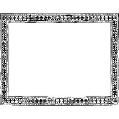 Geographics – Certificats de reconnaissance et de mérite, 8 12/ po x 11 po, motif fioriture aluminium argenté, paq./12