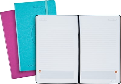 AT-A-GLANCE® Perfect-Bound Planning Notebook, Raspberry & Teal, 5-1/8