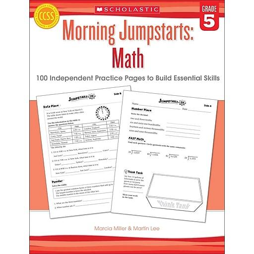 Scholastic Morning Jumpstarts: Math (Grade 5)