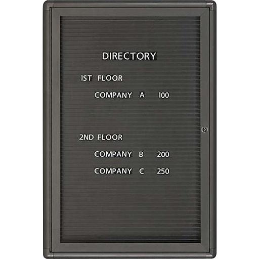 quartet radius design changeable letter directory 1 door graphite finish frame 2w x 3h