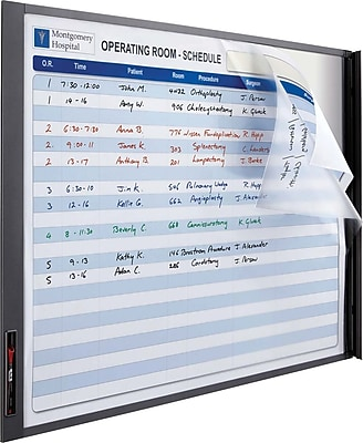 Quartet® InView™ Custom Whiteboard, Total Erase®, Graphite Frame, 23