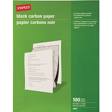 Staples® Carbon Paper, Black