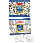 Melissa & Doug Boys Coloring / Sticker Pad Bundle