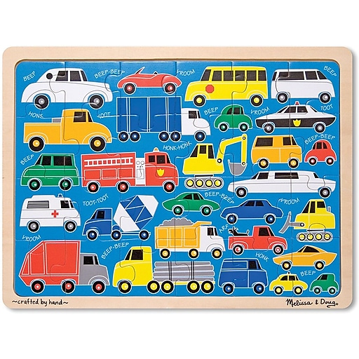 Melissa & Doug Beep Beep Wooden Jigsaw Puzzle - 24 Pieces (1894)
