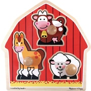 Melissa & Doug Barnyard Animals Jumbo Knob