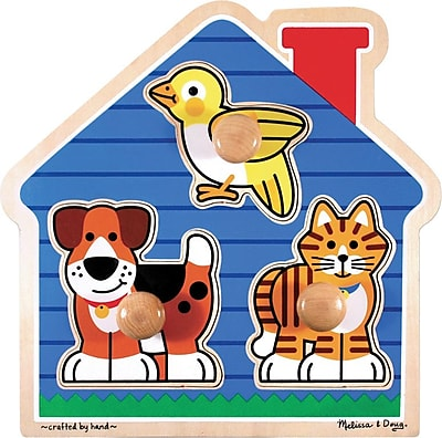 Melissa & Doug House Pets Jumbo Knob Puzzle - 3 Pieces (2055)