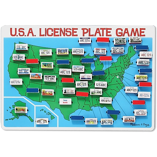 Melissa & Doug U.S.A. License Plate Game Travel Game (2098)