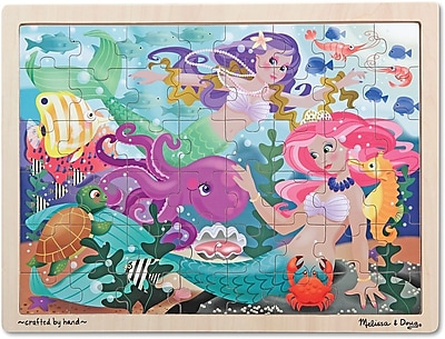 Melissa & Doug Mermaid Fantasea Wooden Jigsaw Puzzle - 48 pieces (2911)