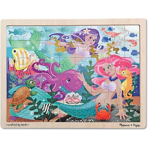 Melissa & Doug Mermaid Fantasea Wooden Jigsaw Puzzle - 48 pieces (2911)