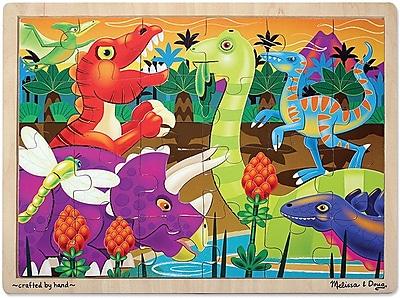 Melissa & Doug Prehistoric Sunset Wooden Jigsaw Puzzle - 24 Pieces (2936)