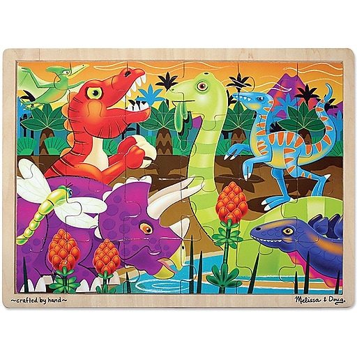 Melissa & Doug Prehistoric Sunset Wooden Jigsaw Puzzle - 24 Pieces (2936)