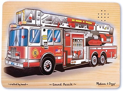 Melissa & Doug Fire Truck Sound Puzzle - 9 Pieces (343)