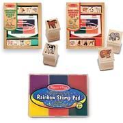 Melissa & Doug Baby Zoo & Farm Animals W / 6 Color Stamp Pad Set