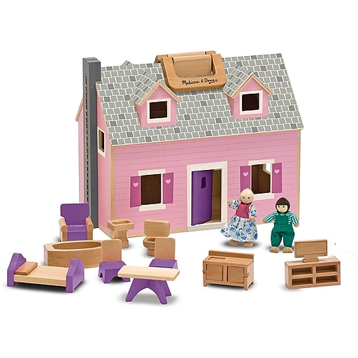 Melissa & Doug Fold & Go Mini Dollhouse (3701)