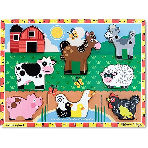 Melissa & Doug Farm Chunky Puzzle - 7 Pieces