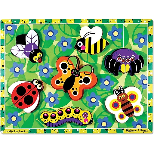 Melissa & Doug Insects Chunky Puzzle - 7 Pieces (3729)