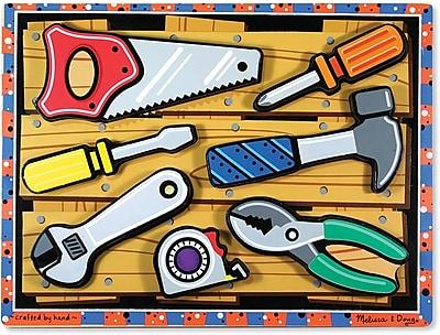 Melissa & Doug Tools Chunky Puzzle - 7 Pieces (3731)
