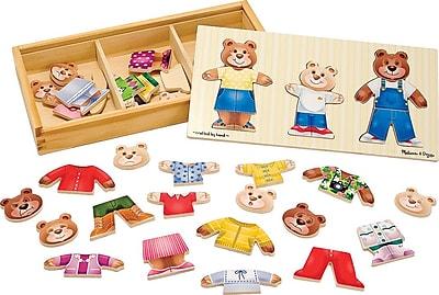 Melissa & Doug Bear Family Dress-Up Puzzle (3770)