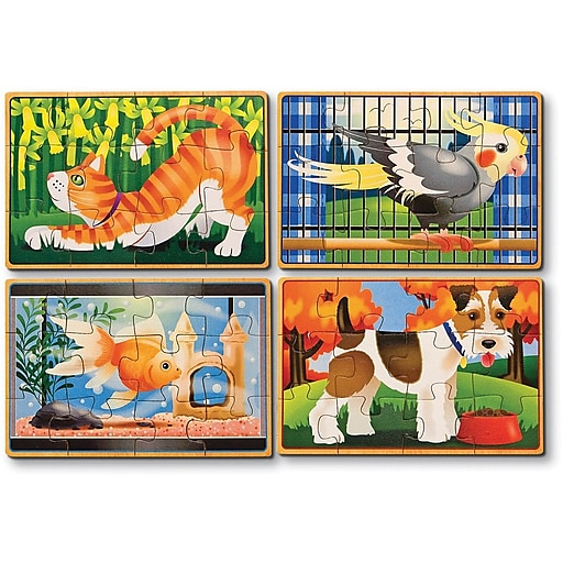 Melissa & Doug Pets Jigsaw Puzzles in a Box (3790)