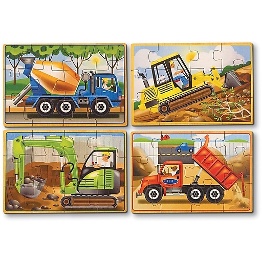 Melissa & Doug Construction Jigsaw Puzzles in a Box (3792)