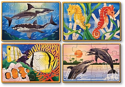 Melissa & Doug Sea Life Jigsaw Puzzles in a Box (3795)