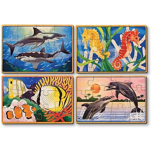 Melissa & Doug Sea Life Jigsaw Puzzles in a Box (3795)