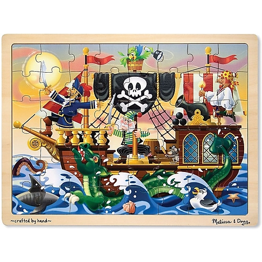 Melissa & Doug Pirate Adventure Jigsaw Puzzle - 48 Pieces (3800)