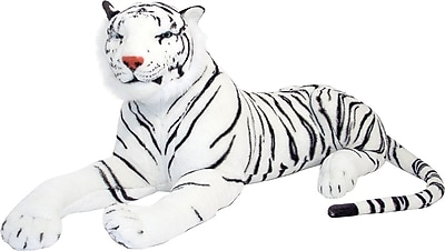 Melissa & Doug White Tiger Giant Stuffed Animal (3979)