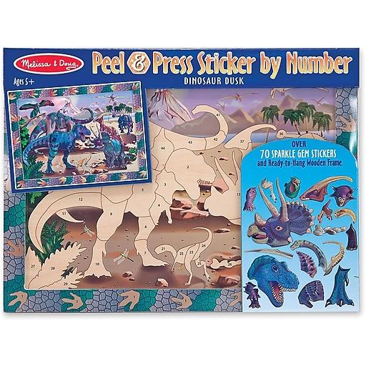 Melissa & Doug Dino Dusk Peel & Press Sticker by Numbers (4007)