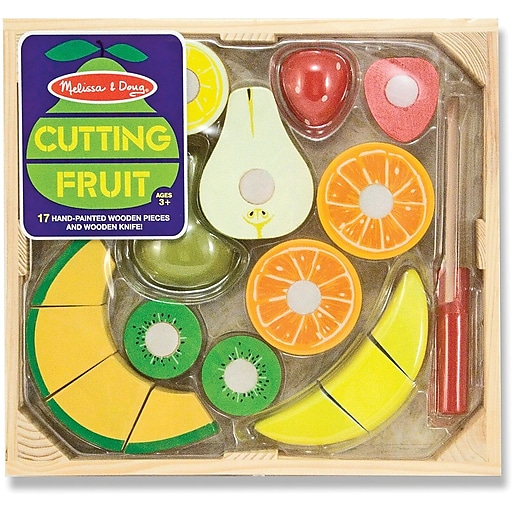 Melissa & Doug Cutting Fruit Set - Wooden Play Food (4021)