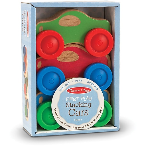 Melissa & Doug Stacking Cars Baby & Toddler Toy (4051)