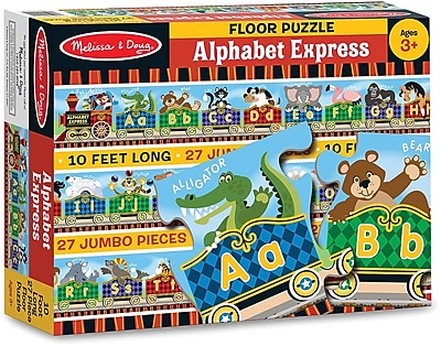 Melissa & Doug Alphabet Express Floor Puzzle (27 pc)