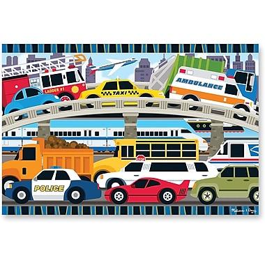 Melissa & Doug Traffic Jam Floor Puzzle 2'x3' (24 pc)