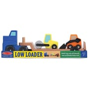 Melissa & Doug Low Loader Wooden Vehicles Play Set (4550)
