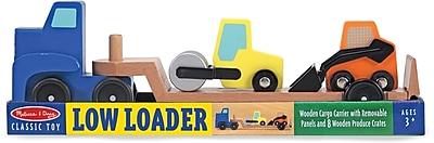 Melissa & Doug Low Loader Wooden Vehicles Play Set