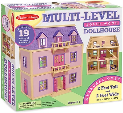 Melissa & Doug Multi-Level Solid Wood Dollhouse (4570)