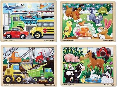 Melissa & Doug Jigsaw Bundle (4 Puzzle Bundle)