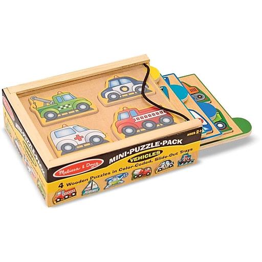 Melissa & Doug Vehicles Mini-Puzzle-Pack (4791)