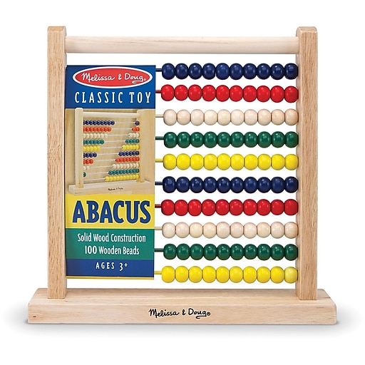 Melissa & Doug Abacus Classic Wooden Toy (493)