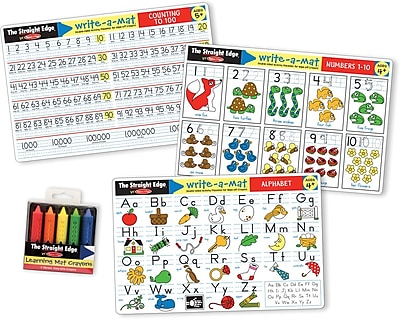 Melissa & Doug Alphabet & Numbers Learning Mats Set (5106)