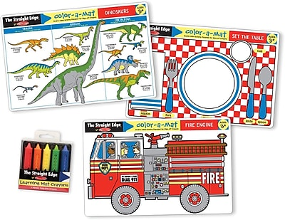 Melissa & Doug Fun Themes Placemat Learning Mats Set (5109)