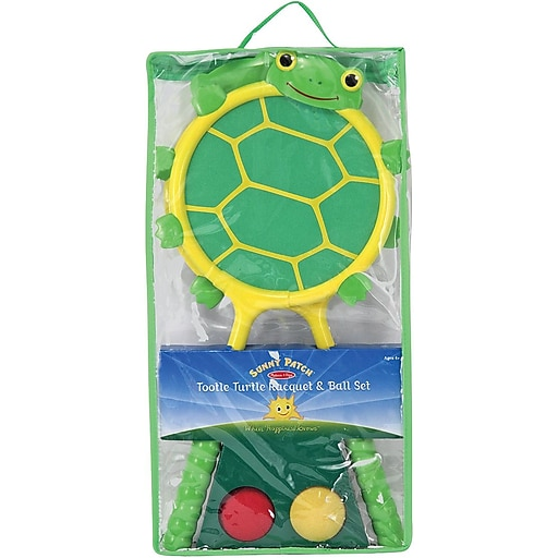 Melissa & Doug Tootle Turtle Racquet & Ball Set (6165)