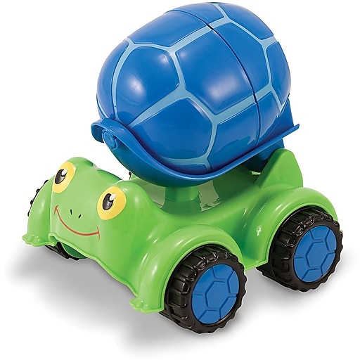 Melissa & Doug Scootin' Turtle Cement Mixer Toy (6271)
