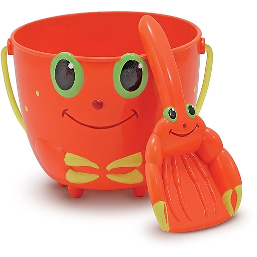 Melissa & Doug Clicker Crab Pail and Shovel Sand Toys (6400)