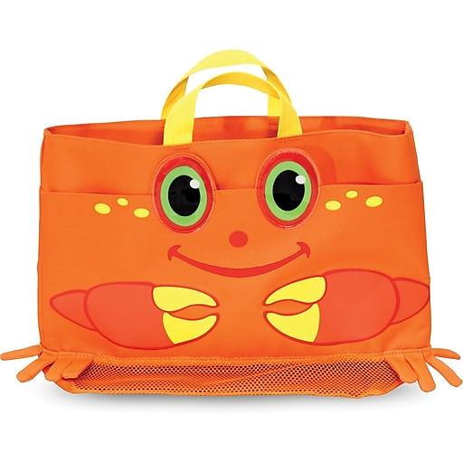 Melissa & Doug Clicker Crab Kids' Beach Tote Bag (6419)