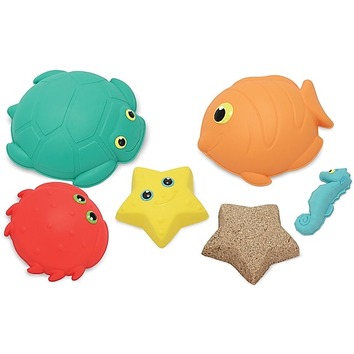 Melissa & Doug Seaside Sidekicks Sand-Molding Set (6423)